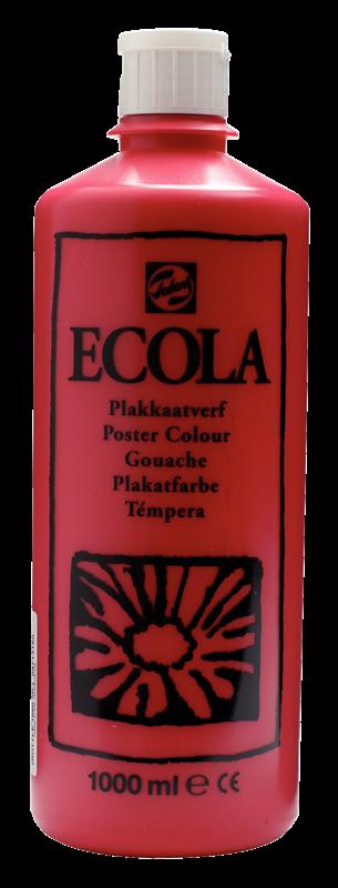 Ecola Plakkaatverf Flacon 1000 ml Karmijn 318