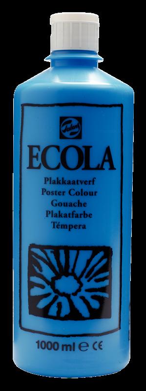 Ecola Plakkaatverf Flacon 1000 ml Lichtblauw (Cyaan) 501