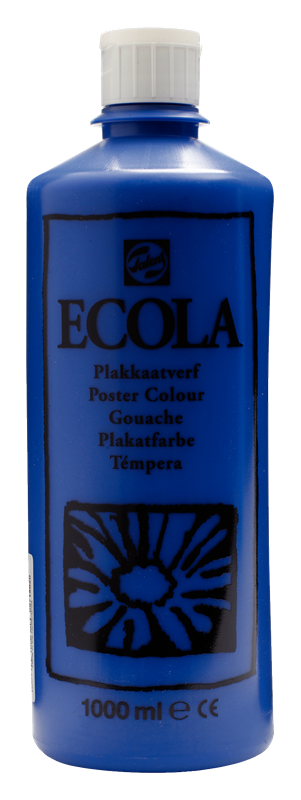 Ecola Plakkaatverf Flacon 1000 ml Donkerblauw 502