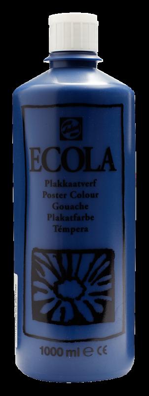 Ecola Plakkaatverf Flacon 1000 ml Pruisischblauw 508
