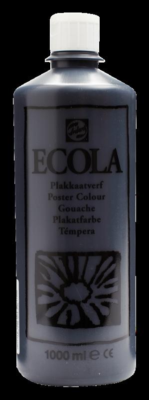 Ecola Plakkaatverf Flacon 1000 ml Zwart 700