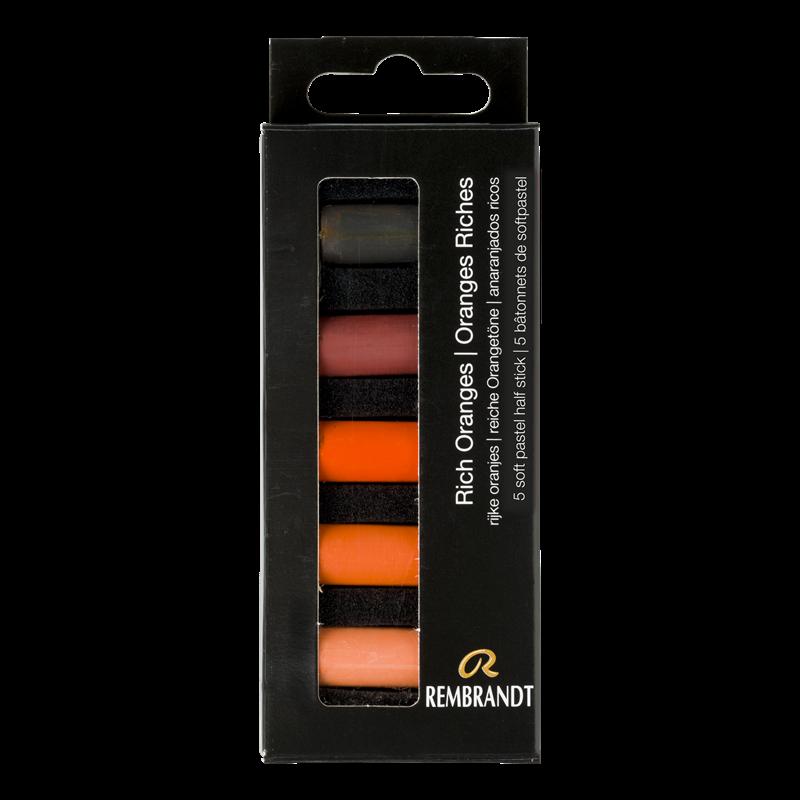 Rembrandt Softpastels rijke oranjes set
