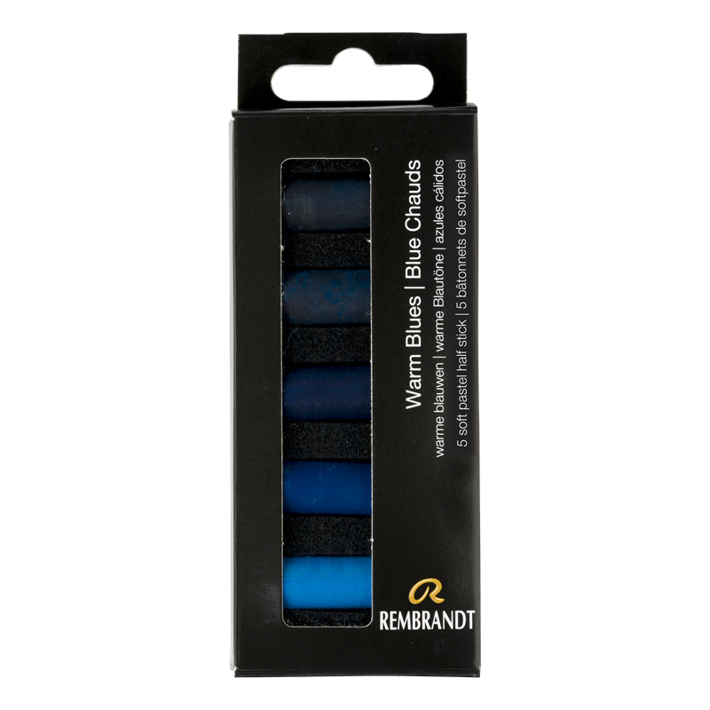 Rembrandt Softpastels warme blauwen set