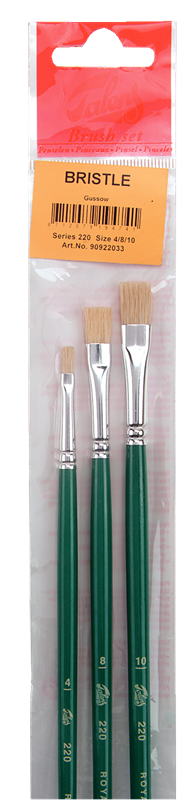 Set de Pinceaux Talens pour Huile Et Acrylique Série 220 220/3