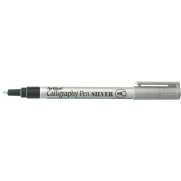 Artline calligraphy pen silver 2.5