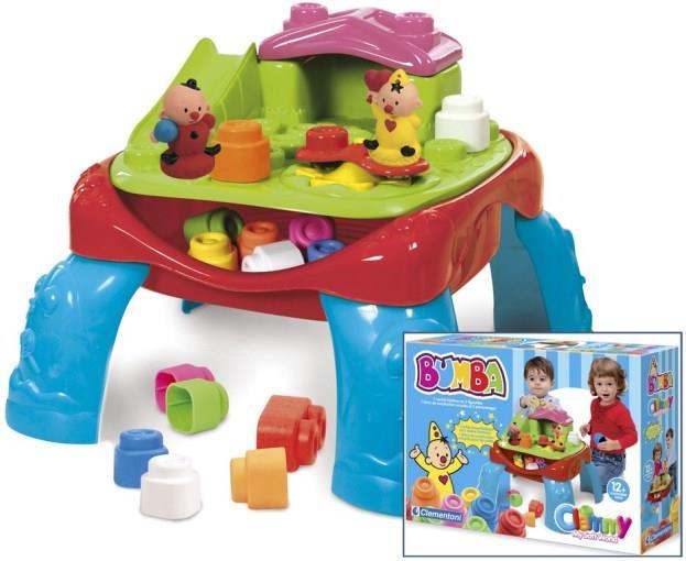 BUMBA Speeltafel - 2 figuurtjes + zachte blokken