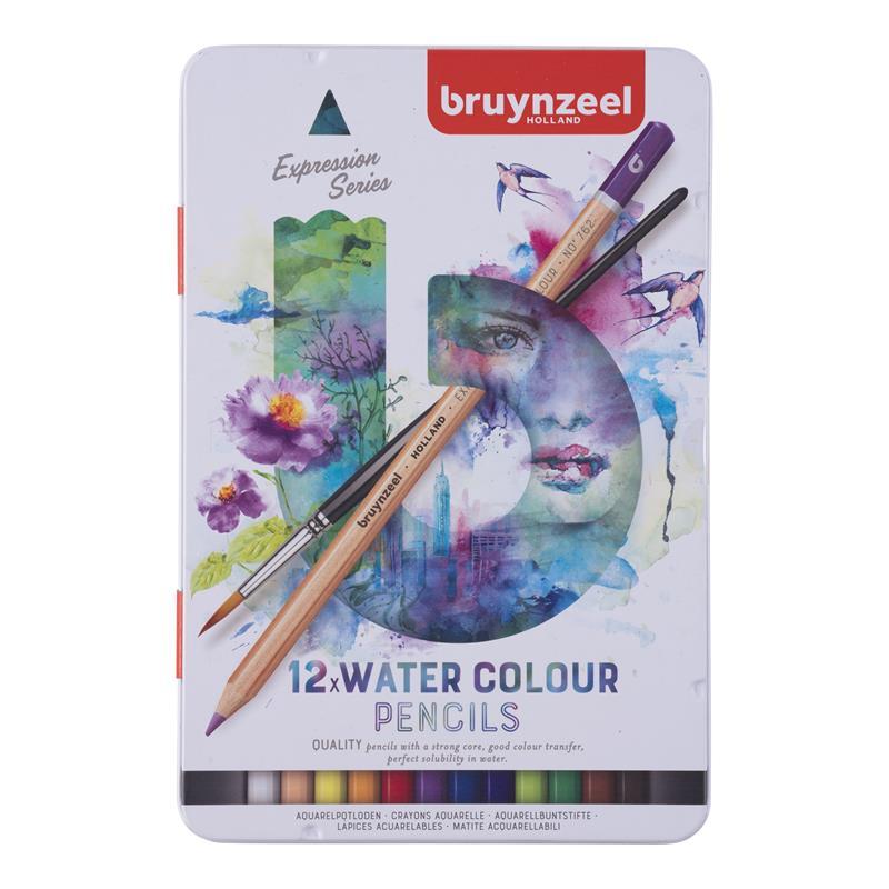 Bruynzeel Expression aquarelpotloden blik 12