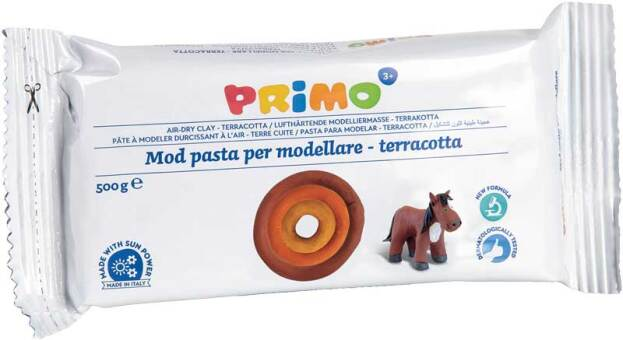 PRIMO Boetseerklei 500gr terracotta, luchtdrogend